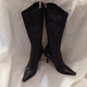 Jimmy Choo Tall Black Leather Boots